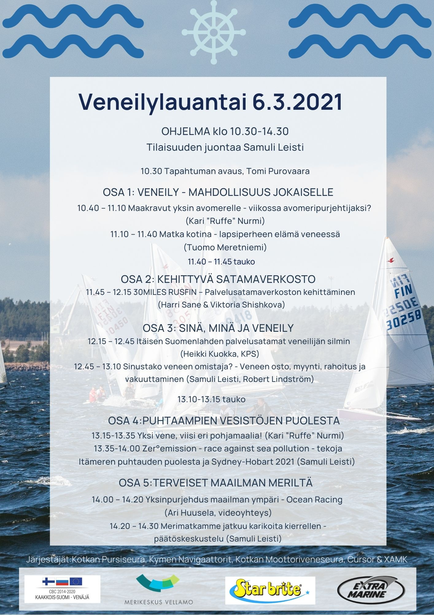 Veneilylauantai ohjelma 6.3.2021 FIN-8